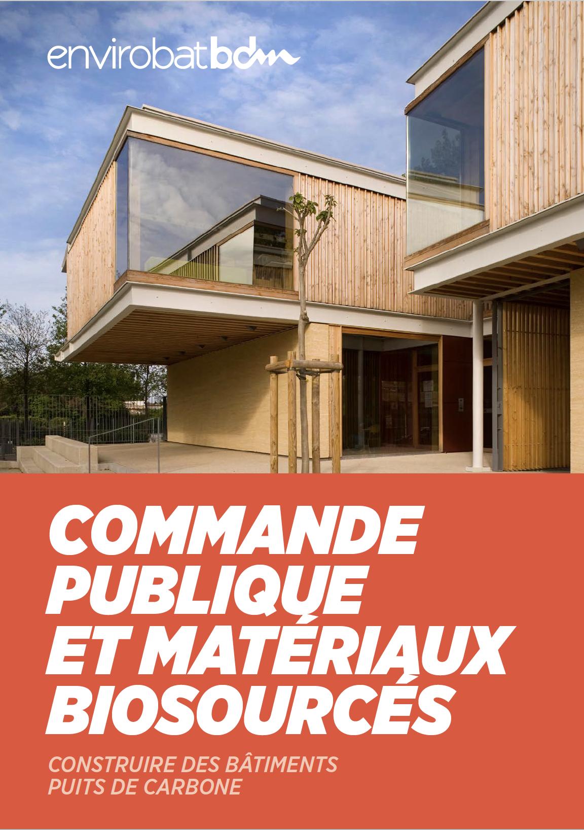 Guide Envirobat BDM de la commande publique des matériaux biosourcés