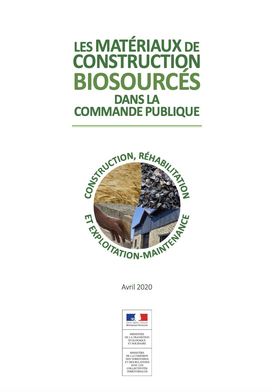 Guide des matériaux de construction biosourcés dans la commande publique