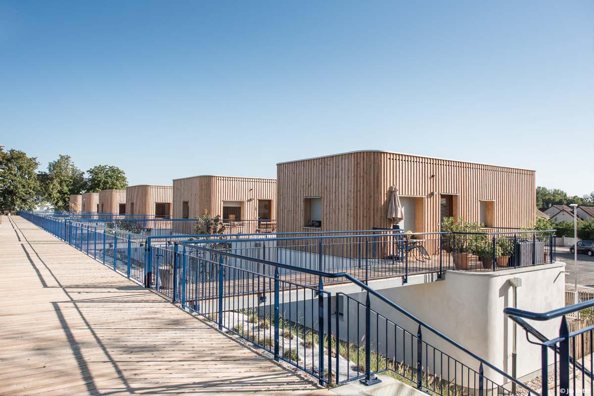 résidence seniors isolation fibre de bois paille chanvre lin et coton recyclé